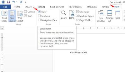 Cara Mudah Menampilkan Ruler di MS Word Dengan Cepat