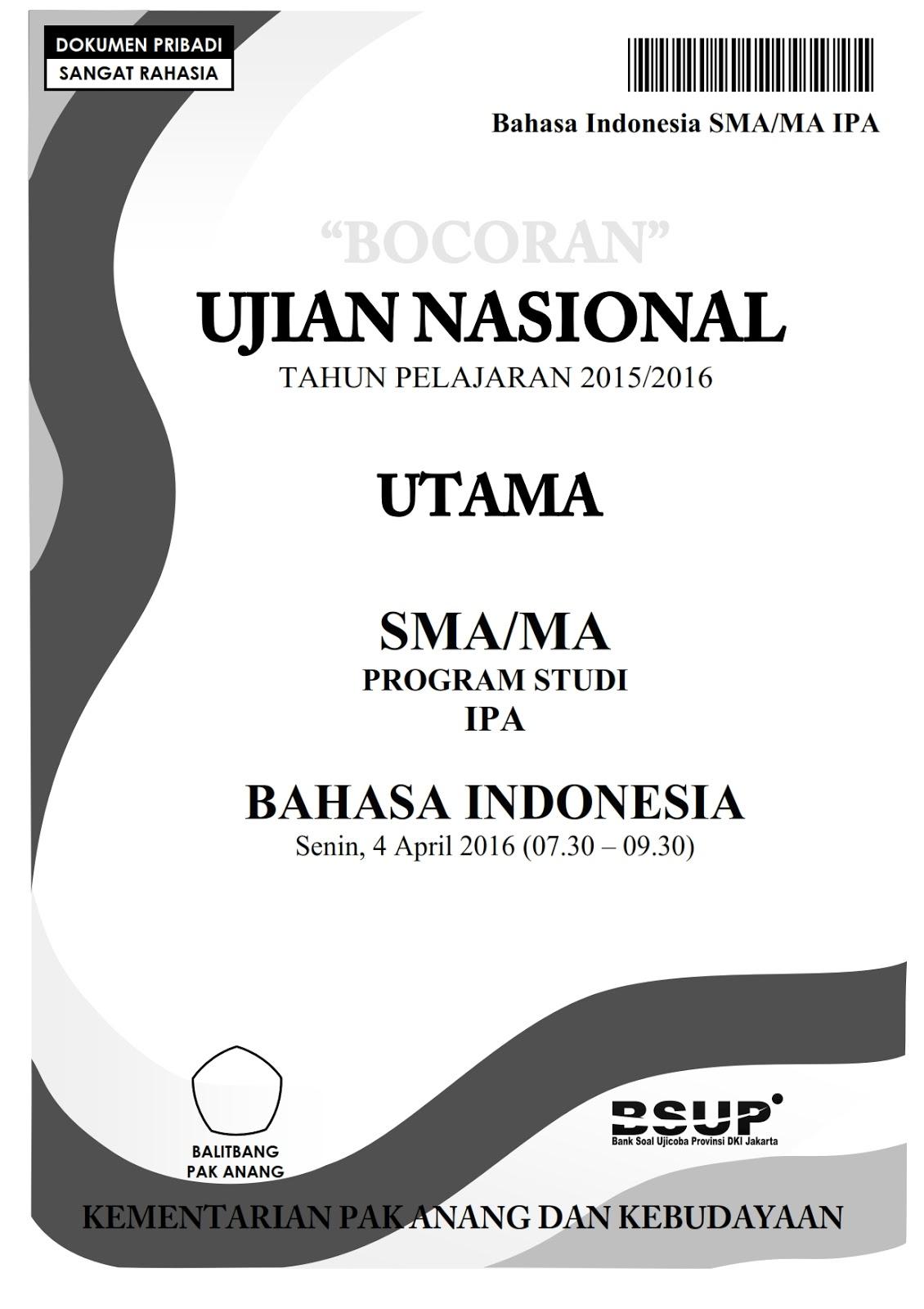 Pembahasan Un Bahasa Indonesia Sma 2019 : pembahasan, bahasa, indonesia, Berbagi, Belajar:,