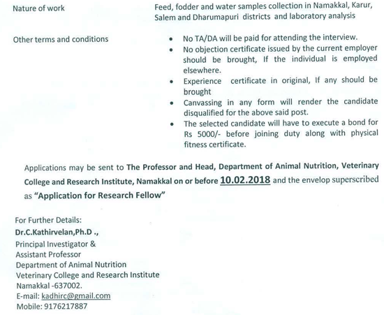 Tanuvas biochemistry research fellow vacancy helpbiotech advertisement httptanuvascneavacanciesvcrinklannrf2018pdf yelopaper Gallery
