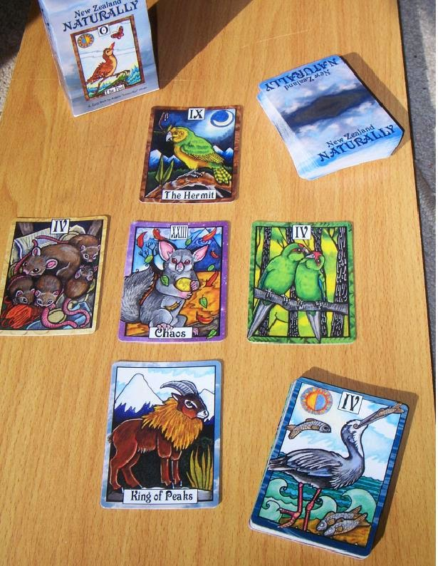 Ecology tarot cards by New Zealand illustrator Angela Oliver