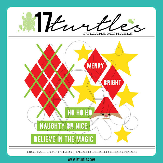 Plaid Plaid Christmas Free Digital Cut File by Juliana Michaels 17turtles