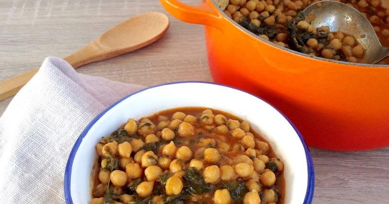 Hoy comemos sano garbanzos con espinacas for Espinacas como cocinarlas