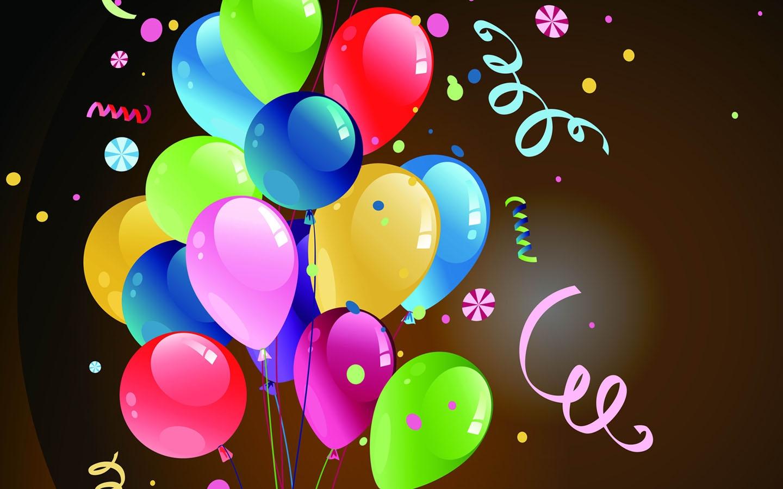 Поздравления с днем рождения картинки с шариками, февраля класс
