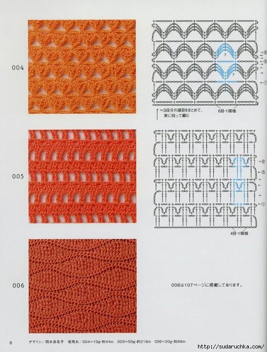 Puntos al crochet de revistas del oriente de Asia   Todo crochet
