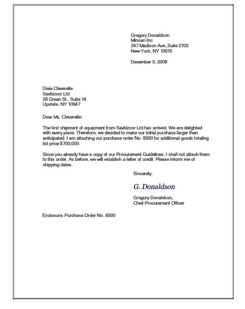 Letter, Formal Business Letter Block Format, Modified Block Style ...