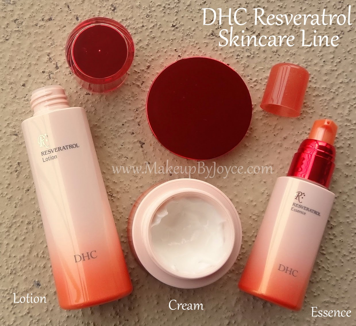 DHC Resveratrol Skincare Line Swatches