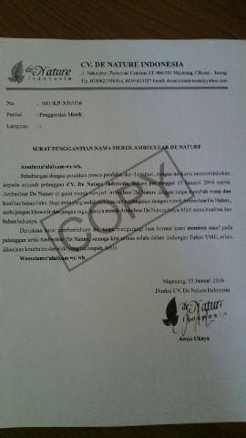 Surat Terbuka Cv. De Nature Indonesia