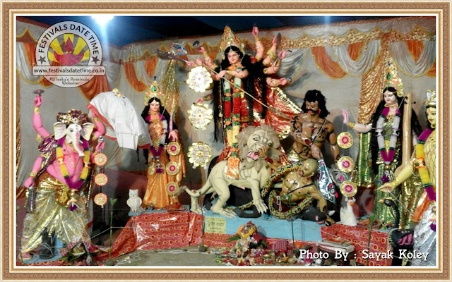 2016 Kalna, Anukhal, Joypur Durga Murti Photo in West Bengal