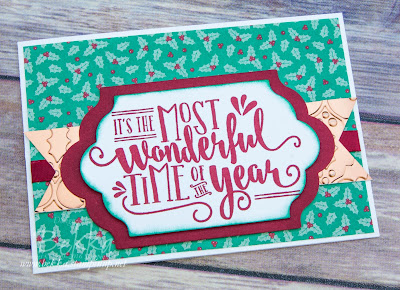 Wonderful Year Christmas Card made using supplies from Stampin' Up! UK which you can buy here