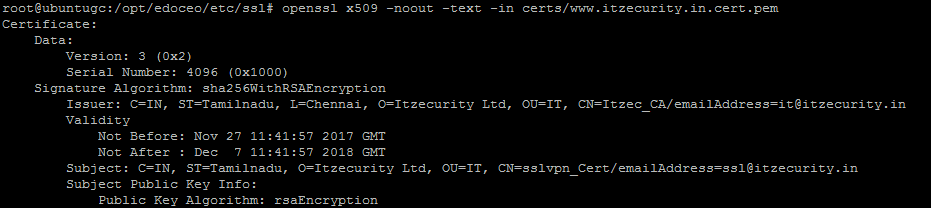 Creating CA,server and client certificates using openssl for SSL VPN ...