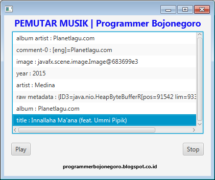 Cara Membuat Aplikasi Pemutar Musik Sederhana Dengan JavaFX Menggunakan NetBeans IDE