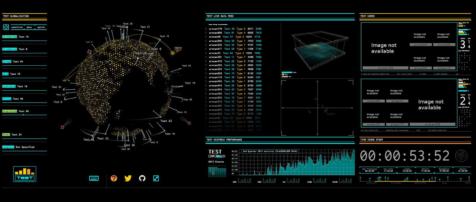 Cool WebGL demo: Tron dashboard