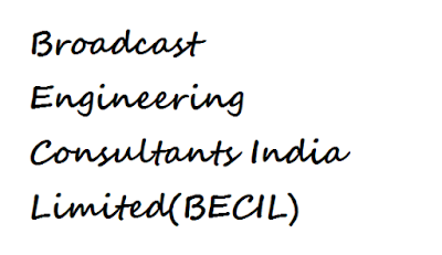 BECIL Recruitment 2017