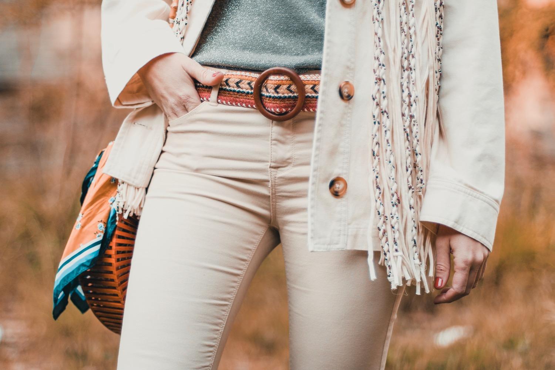 cinturón tejido natural zara