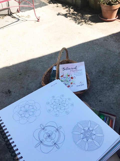 Louise Gale, Botanical Mandalas, Mandala Drawing Warm Up, Sketchbooks, Anne Butera, My Giant Strawberry