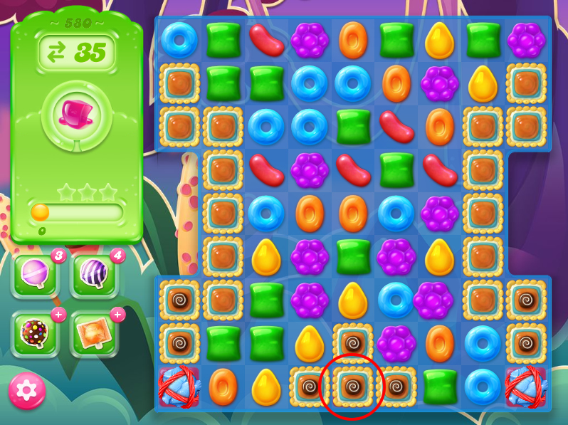 Candy Crush Jelly Saga level 580