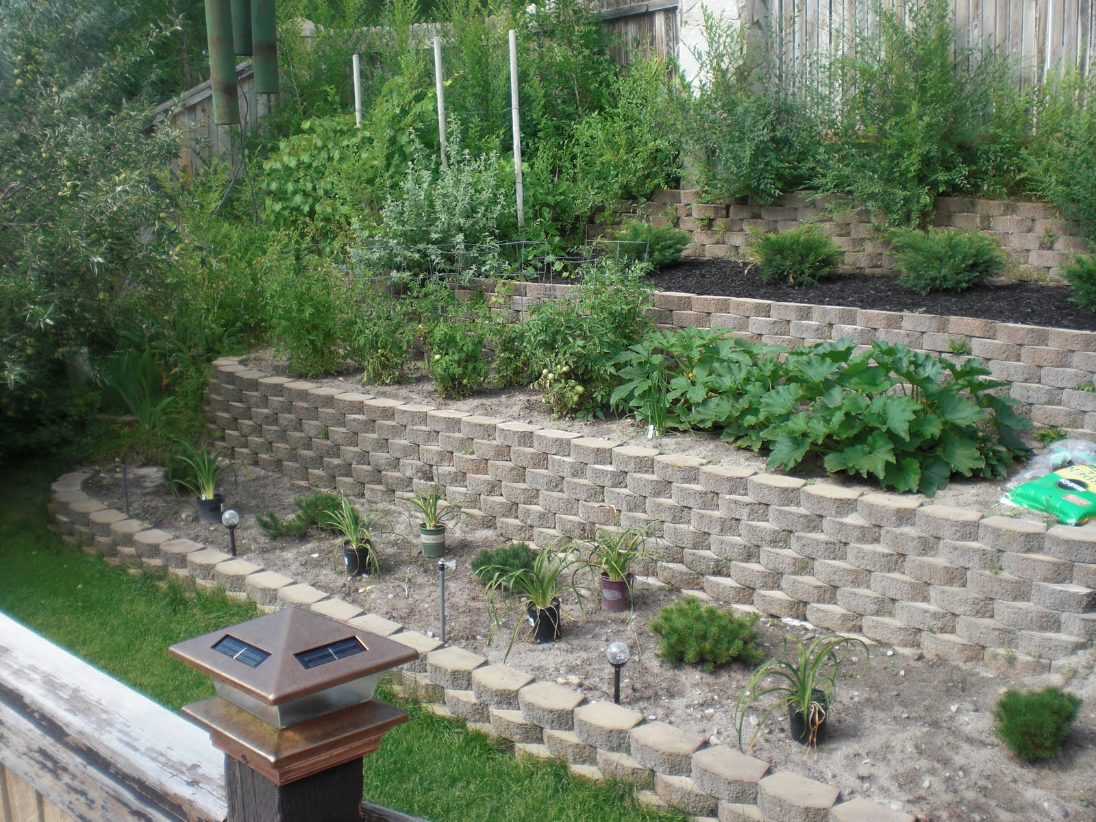 So Yardtistic: Backyard Terrace Before and After on Terraced Yard Landscape Ideas id=71219