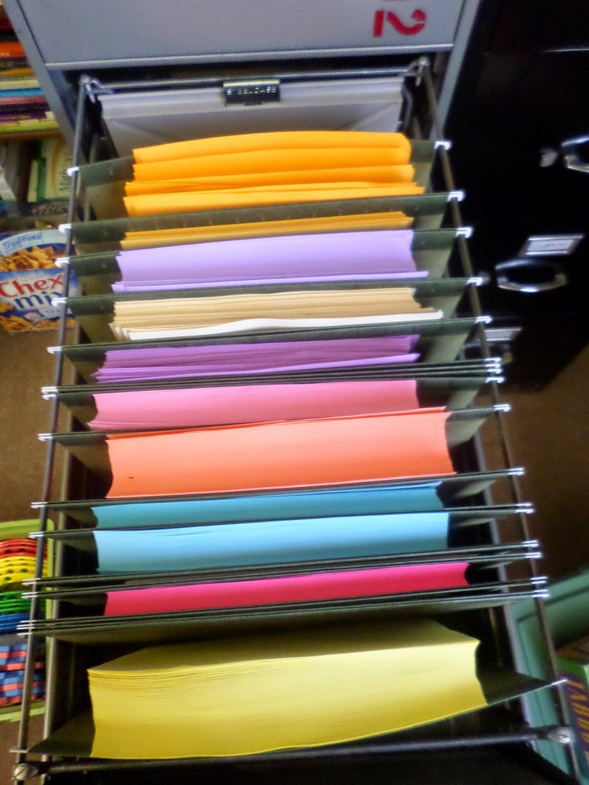 math u003d love organizing my colored paper obsession