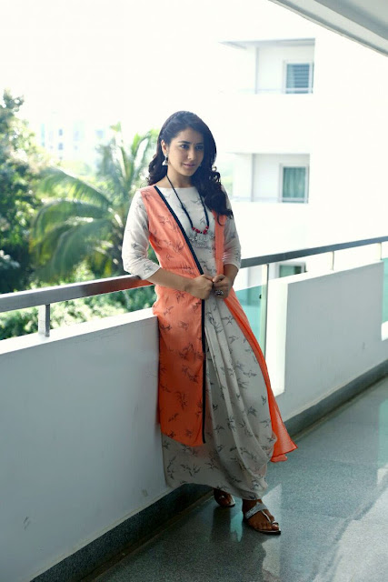 Raashi Khanna Donned a Layered Printed Maxi Dress by September Spring