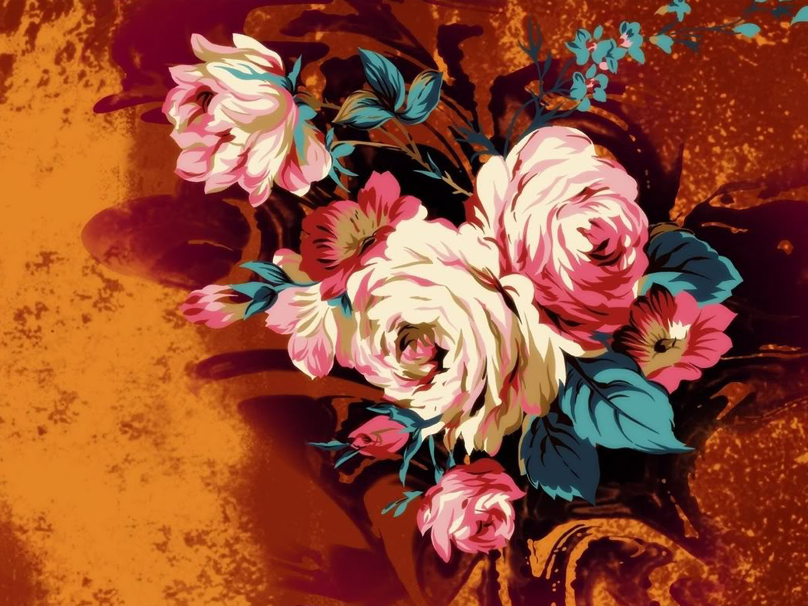 art flowers background wallpaper - photo #19