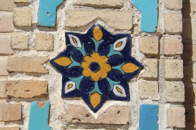 Ouzbékistan, Samarcande, mausolée Gour Émir, frise, céramique, © L. Gigout, 2012
