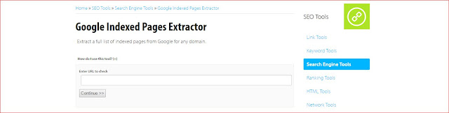 Extractor de url indexadas por google