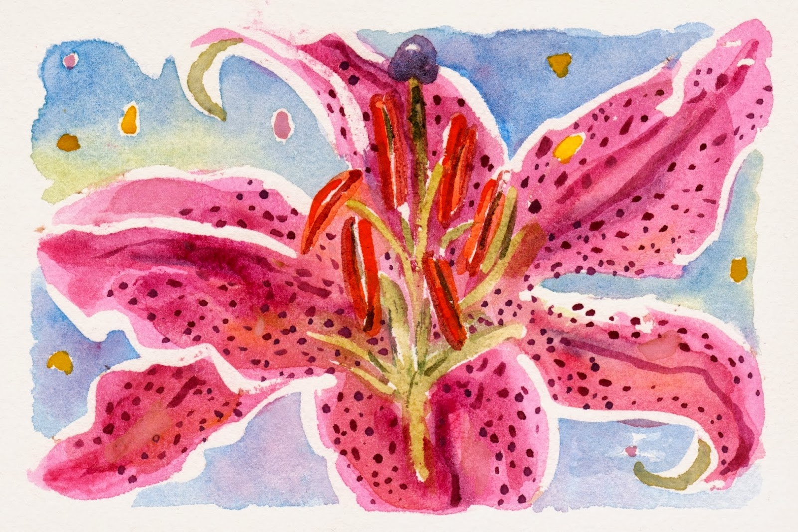 Power Of The Flower Stargazer Lily Watercolor Paint