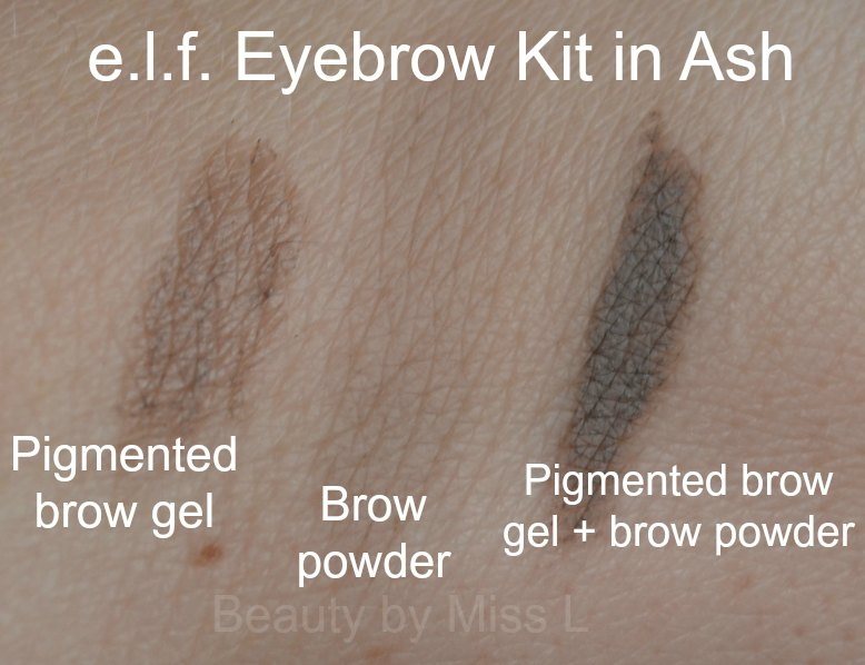 e.l.f Eyebrow Kit in Ash swatch