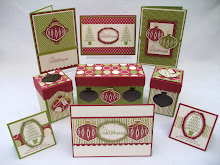 Contempo christmas Ornament Boxes & Cards Stamp class Instructions