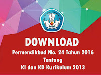 Permendikbud No. 24 Tahun 2016 Tentang KI KD Kurikulum 2013