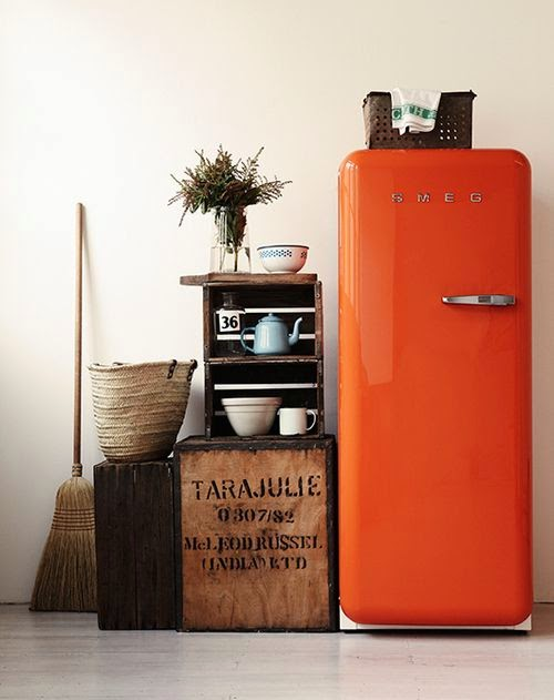 Risultati immagini per cucine con frigoriferi colorati