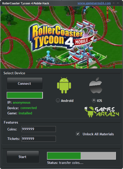 Rollercoaster Tycoon 4 Mobile Hack New Update 2015