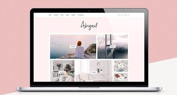 Abigail Blogger template feminine and modern Blogger template
