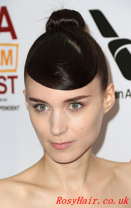 Rooney Mara's Bangs Out Of Her Eyes