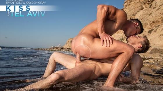 Kiss and Tel Aviv – Scene 4 : Ashley Ryder, Kayden Gray & Rocco Steele