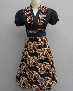 Dress batik wanita untuk kerja