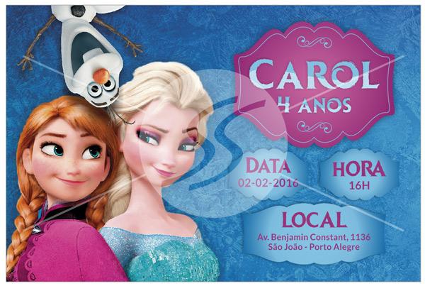 Convite de aniversario frozen sao paulo - Convite Aniversário Frozen