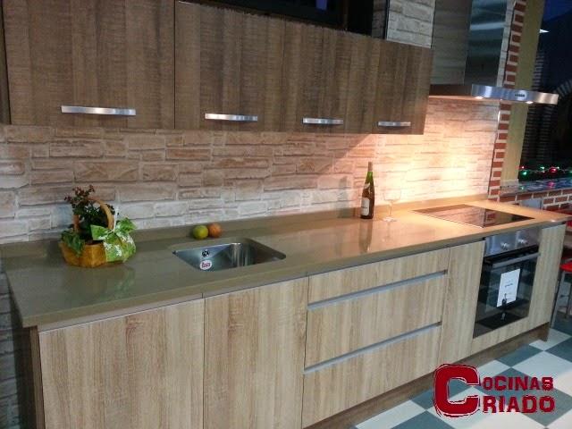 Cocinas criado modelos for Formica madera