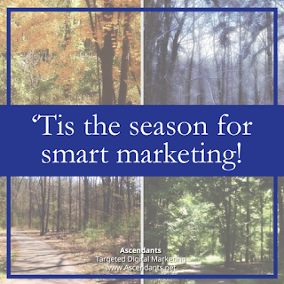 Ascendants Targeted Digital Marketing Tis the Season Smart Marketing tree graphic image
