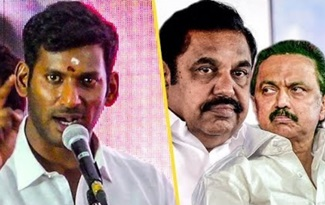 Vishal Political Speech | Edappadi , Stalin