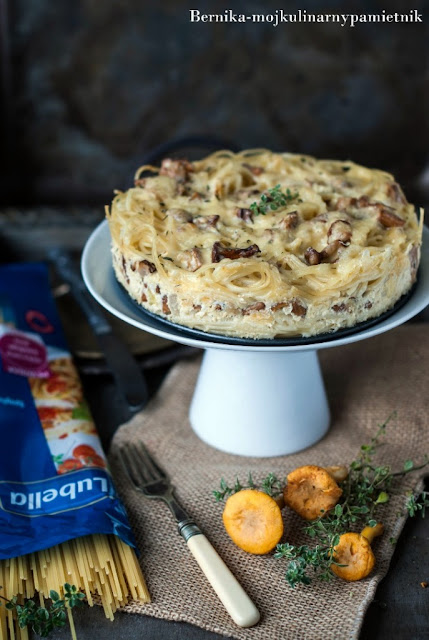 makaron, lubella, spaghetti, kurki, grzyby, zapiekanka, tort, bernika, kulinarny pamietnik