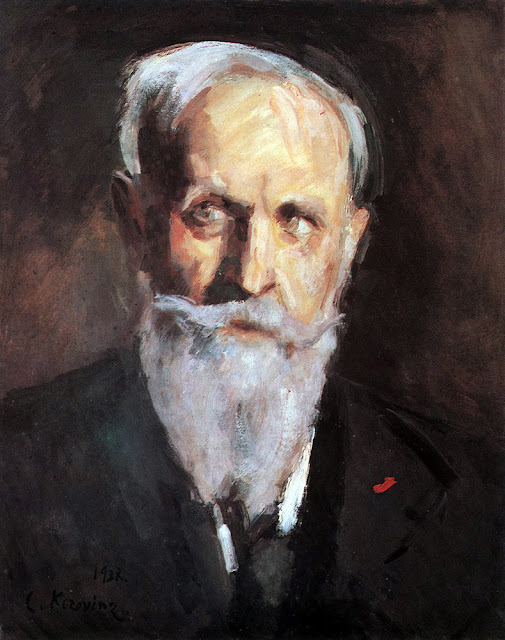 Konstantin Korovin, Self Portrait, Portraits of Painters, Fine arts, Portraits of painters blog, Paintings of Konstantin Korovin, Painter Konstantin Korovin