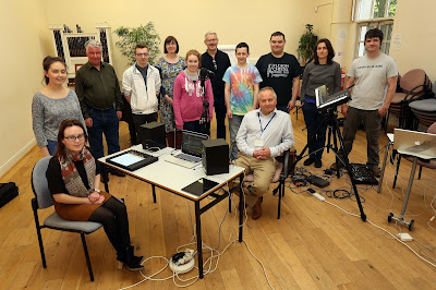 Frank Lyons with Acoustronic and members of the Inclusive Creativity project