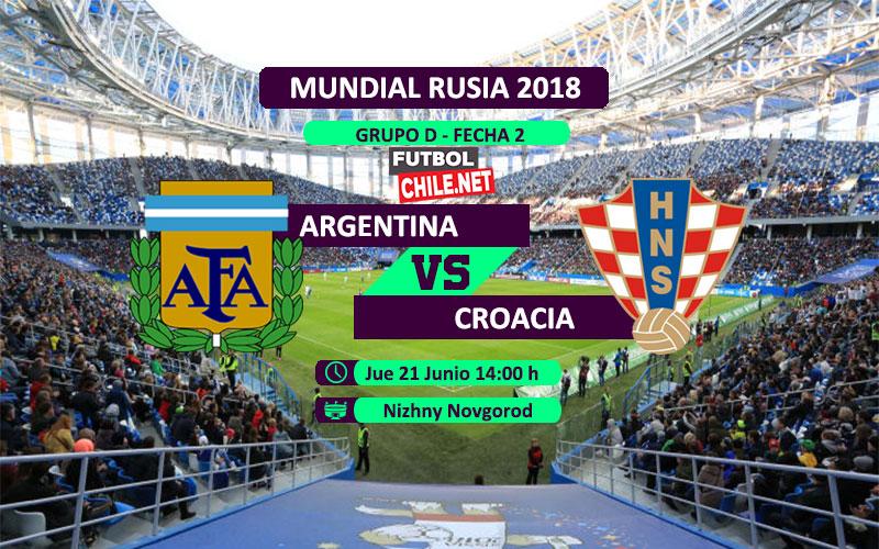 Argentina vs Croacia por la fecha 2 del grupo D del Mundial Rusia 2018
