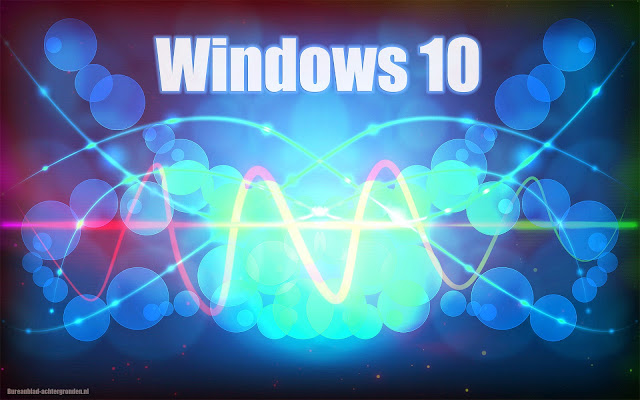 Windows 10 wallpaper abstract blauw