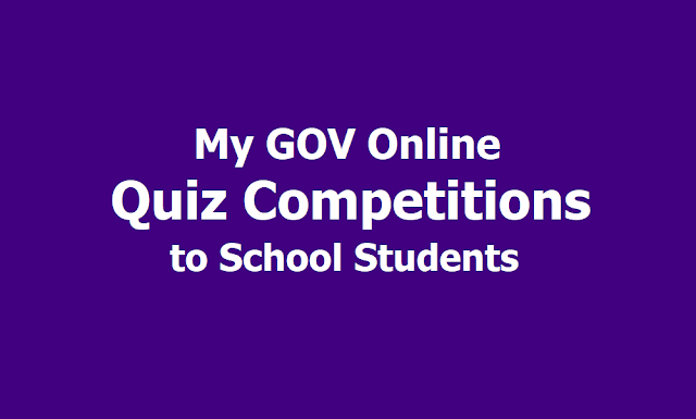 My GOV Online Space Quiz Competitions to Indian School Students 2019