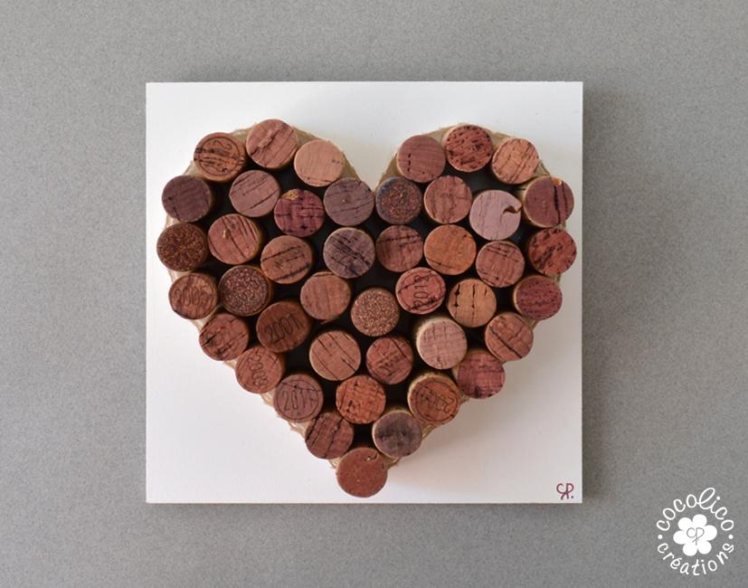 Bien-aimé cocolico-creations: Décoration murale : un coeur en bouchons de liège NO38