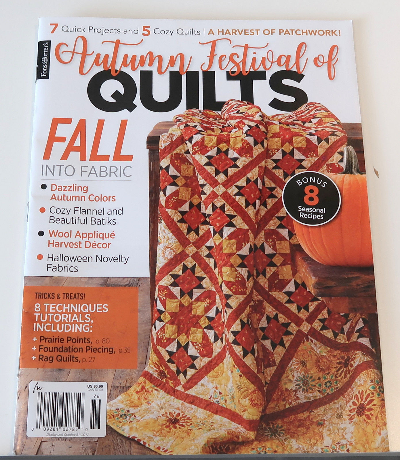 Only $4.99 + Free shipping! Autumn quilts (click!)