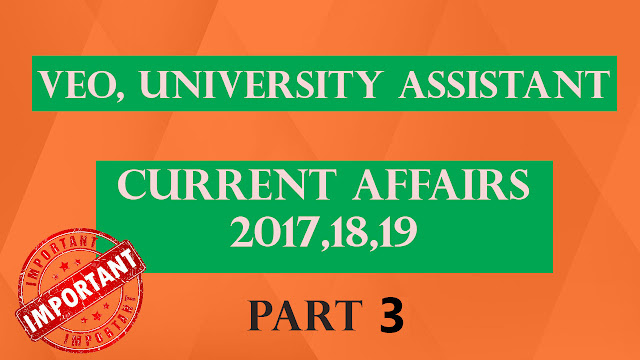 PSC Current Affairs Part 3