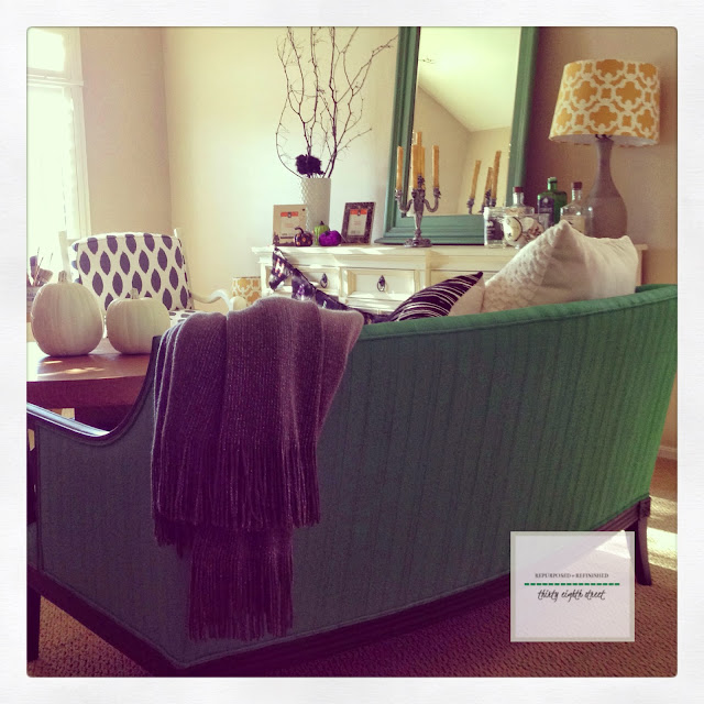 painting upholstery, antibes green